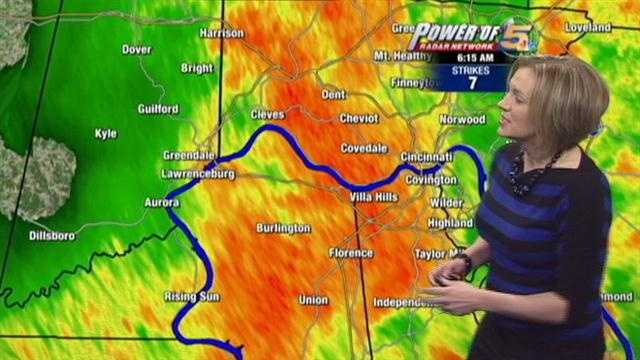 Heavy rain, thunder and lightning, just the way you wanted to start the workweek. Randi Rico has the soggy details.
