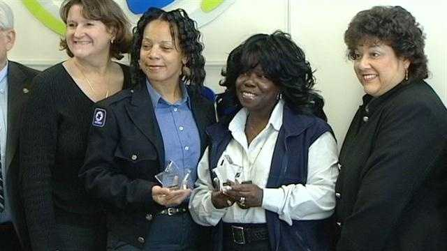 Two Metro bus drivers are honored Tuesday for a pair of unscheduled stops.