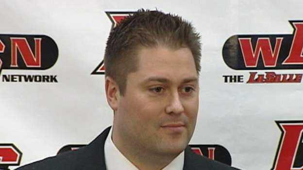 La Salle head football coach Nate Moore