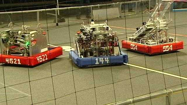 Robots and their student masterminds are competing this weekend at Xavier University.