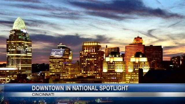 A national honor is announced for the downtown Cincinnati area.