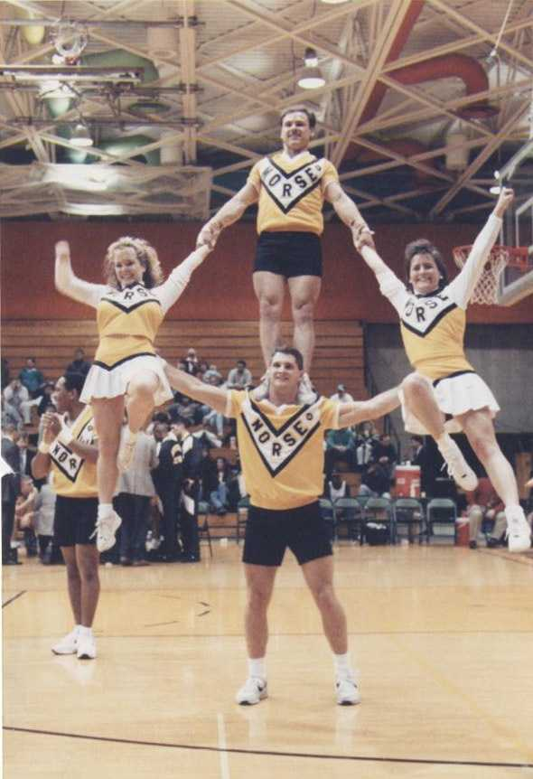 18. I was a cheerleader for two years at Northern Kentucky University. Can you pick me out of this photo from 1993?