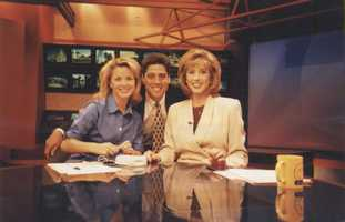 19. My first job on television was in South Bend, Indiana. My most embarrassing moment was when I fell off risers on live TV as I interviewed a choir. This photo is from 1998.