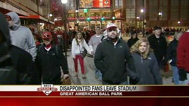 Reds fans seem to agree that the Opening Day game was exciting but they're not happy with the result.