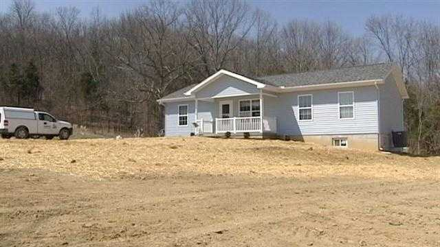 A family whose home was destroyed during last year's tornado gets a new house from Habitat For Humanity.