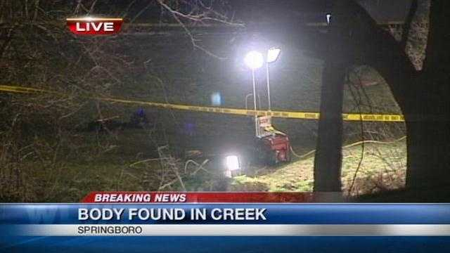 Police are investigating after a body was found in Springboro.