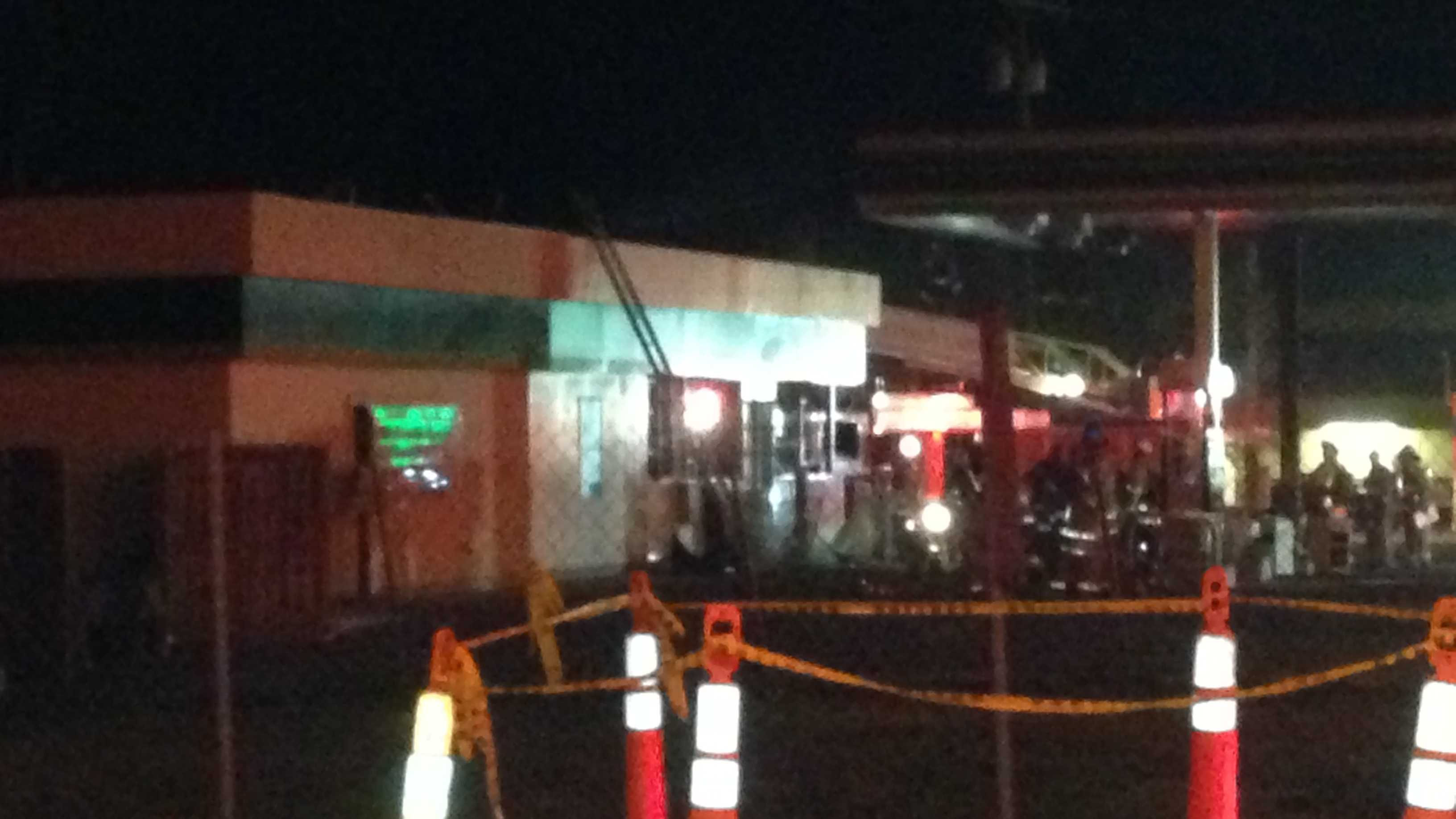 Fire at BP Gas Station