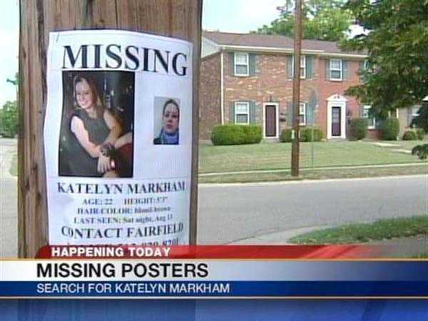 Volunteers mark the somber anniversary of Markham's disappearance by putting up new posters of Katelyn around Fairfield and asking anyone with information to call police.