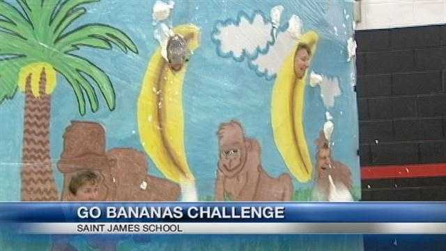 A Tri-state school went bananas to celebrate an accomplishment.