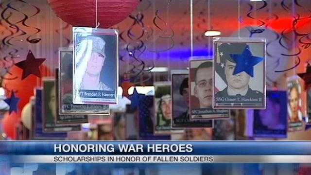 Tri-state residents gathered Saturday night to honor fallen soldiers through scholarships.