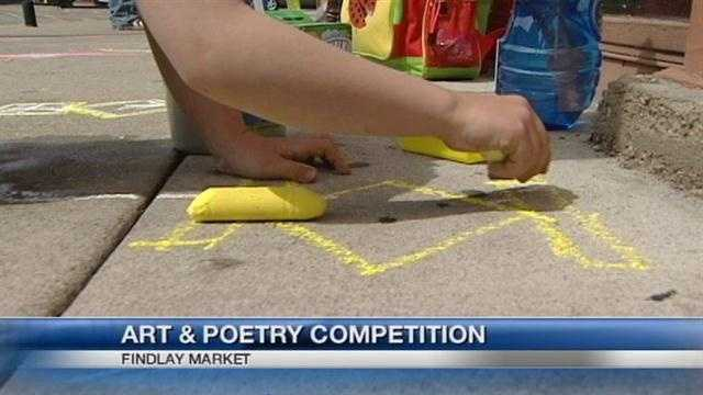 Artists of all ages gathered at Findlay Market to celebrate National Poetry Month.