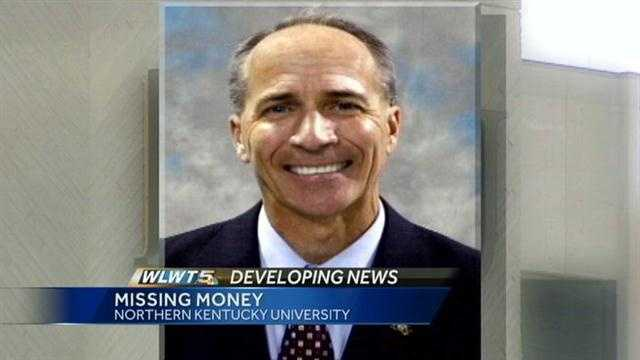 The former athletic director for Northern Kentucky University is accused of stealing more than $100,000 from the university.