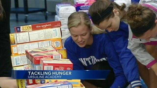 Students hope to collect 20,000 pounds of food for local food pantries.
