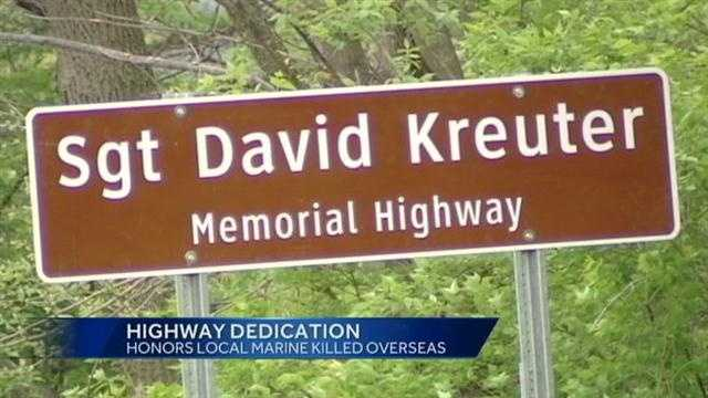 A stretch of westside road has been renamed in honor of a fallen Marine.