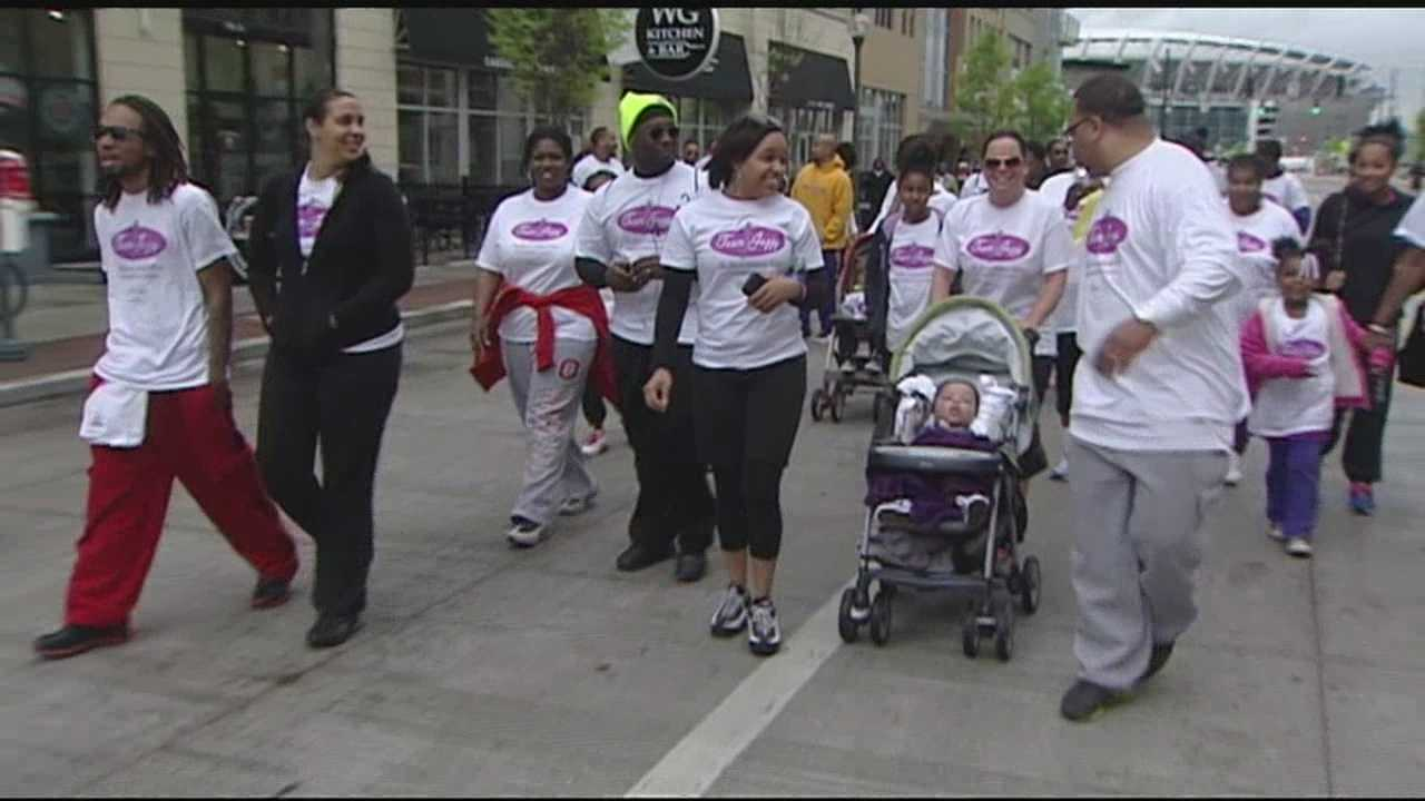 Thousands of participants flooded downtown Cincinnati for the second and last day of the March for Babies.