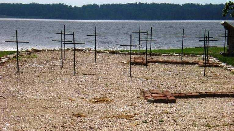 Jamestown colony graves