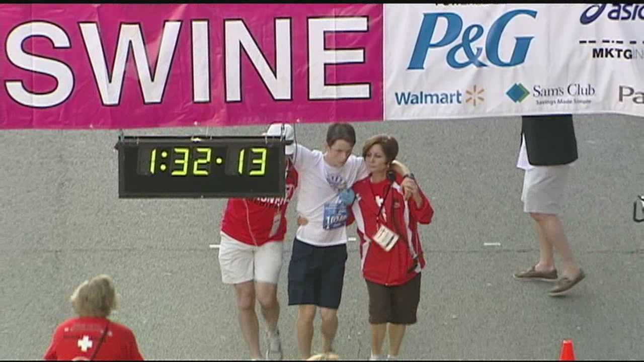 Some runners are going beyond the standard 26-mile route for the Flying Pig Marathon.