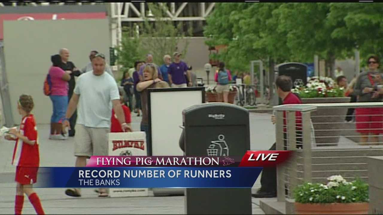The Flying Pig Marathon is Sunday morning but Saturday night, runners are getting their fill of pasta at the pig out