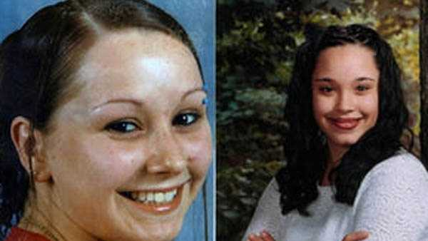 Amanda Berry and Gina DeJesus in photos taken around the time they disappeared.