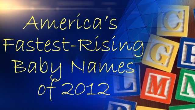 The Social Security Administration released its list of America's Fastest-Rising Baby Names of 2012.