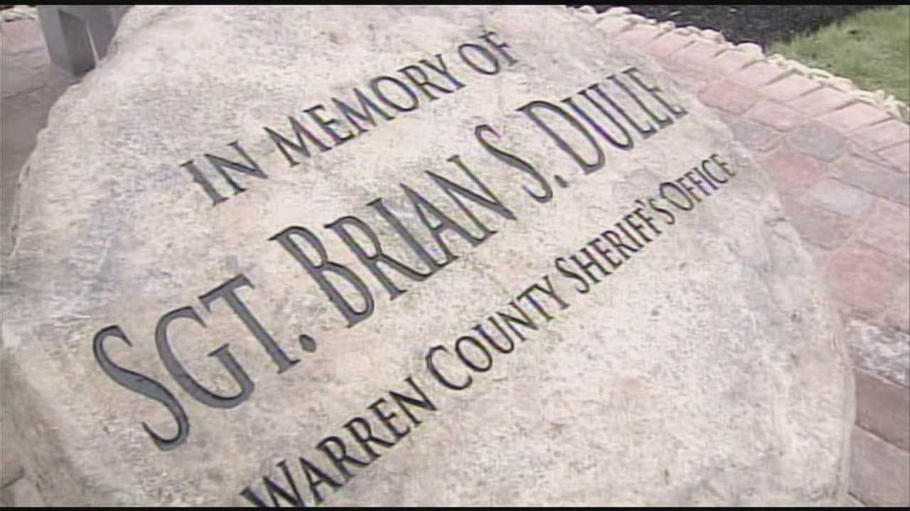 A memorial honoring a fallen Warren County deputy was dedicated Friday.