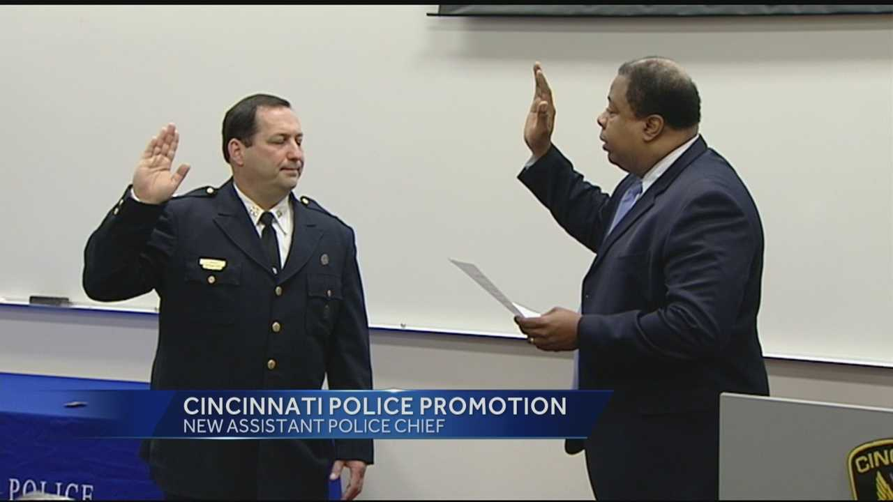 The Cincinnati Police Department is promoting one of its own to assistant chief.