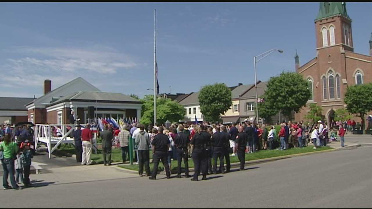 Memorial Day in Franklin, Ohio, always means a parade and ceremony to honor American War heroes, but this year, the ceremony took on an added meaning when victims of war on American soil were honored.