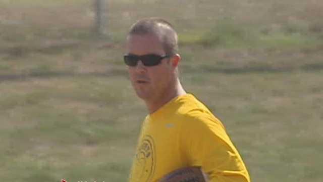 Hamilton head football coach Chad Murphy