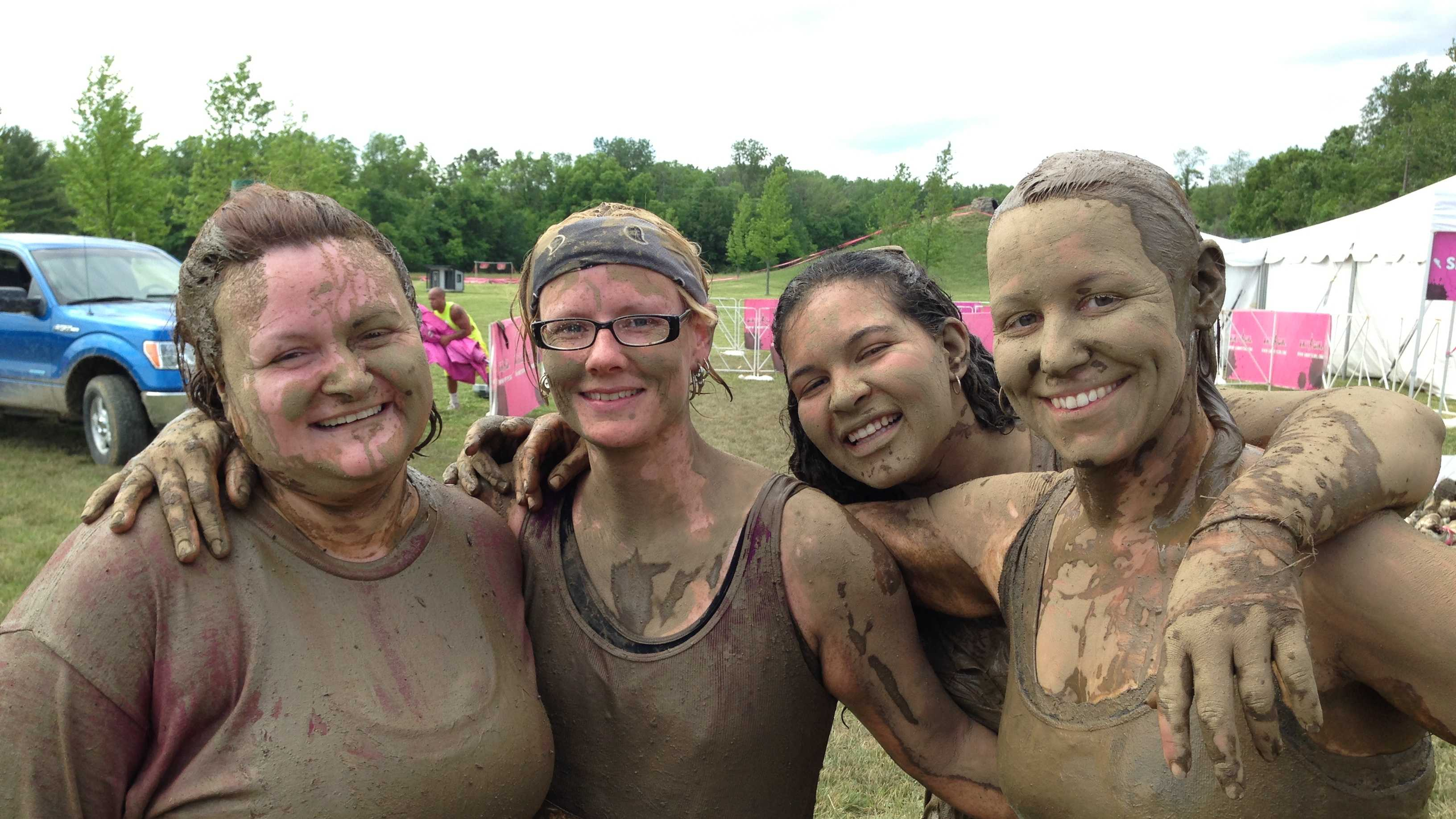 Some of the toughest women in the tri-state showed off their fitness skills Saturday at the first local Dirty Girl Mud Run.