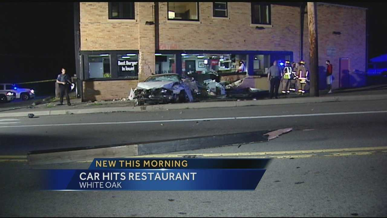 One man is taken to the hospital after crashing his car into a White Oak restaurant.