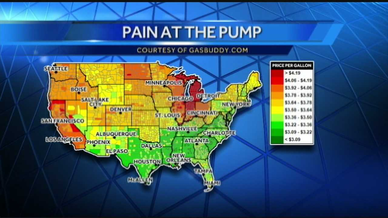 Tri-state drivers are doing a double take at the gas pumps.  Gas prices in the Cincinnati area are up an average of 36 cents in the last week.