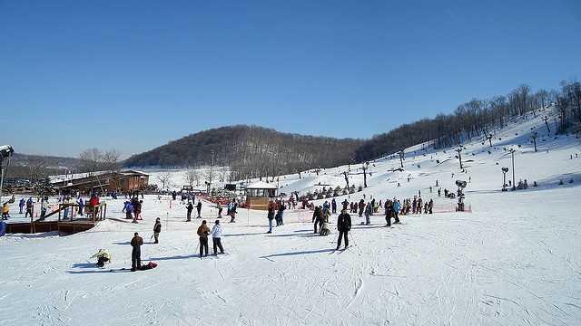 8. Ski down the slopes at Perfect North Slopes.
