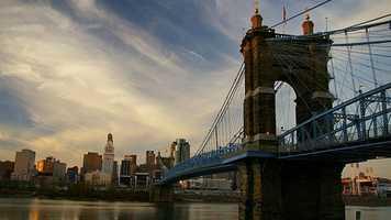 17. Drive across the John A. Roebling Suspension Bridge.