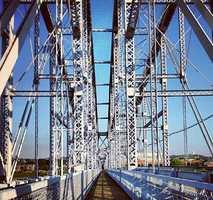 27. Walk from Newport to Cincinnati across the Purple People Bridge.