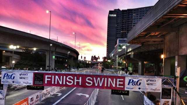 28. Cheer on runners during the Flying Pig Marathon.