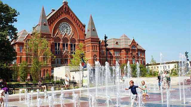 37. Let your kids run through the new fountains at Washington Park in Over-the-Rhine.
