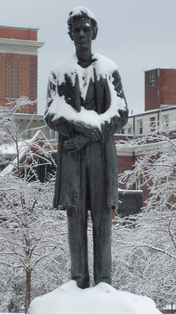 44. See one of the few statues of Abraham Lincoln without a beard at Lytle Park