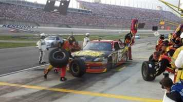 46. Camp on the infield at the Kentucky Speedway.