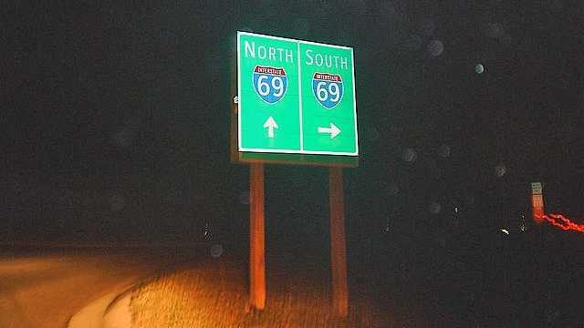 I-69 sign