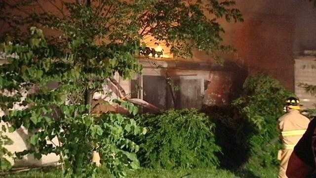 No injuries were reported when a fire swept through a vacant home overnight.