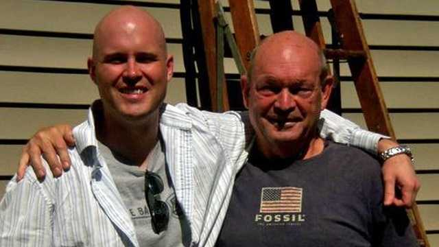 Erik Zarnitz with his dad, Joe, in 2011.