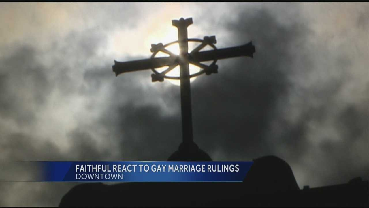 Religious communities across the Tri-state got their first chance to react to the same-sex marriage ruling Wednesday night.