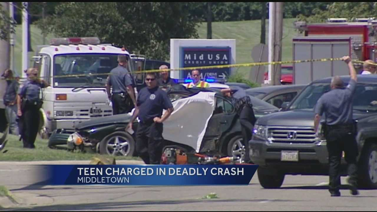 Police said a teen drive ran red light, causing a crash that killed a Camden couple.