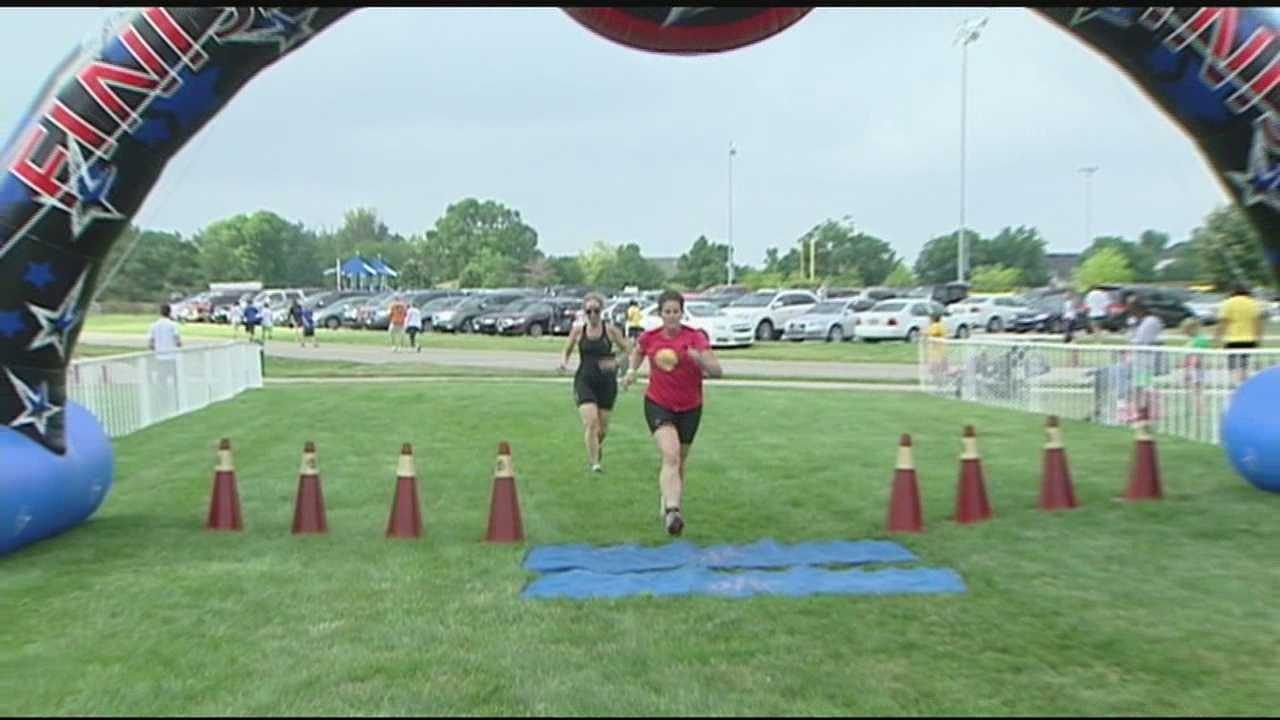 Raising money and raising your heart rate -- Tri-state athletes participated in a triathlon in Mason Sunday.