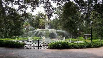 8. Forsyth Park in Savannah, Georgia