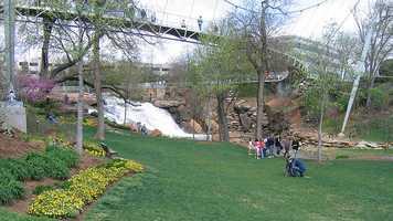 9. Falls Park on the Reedy in Greenville, South Carolina