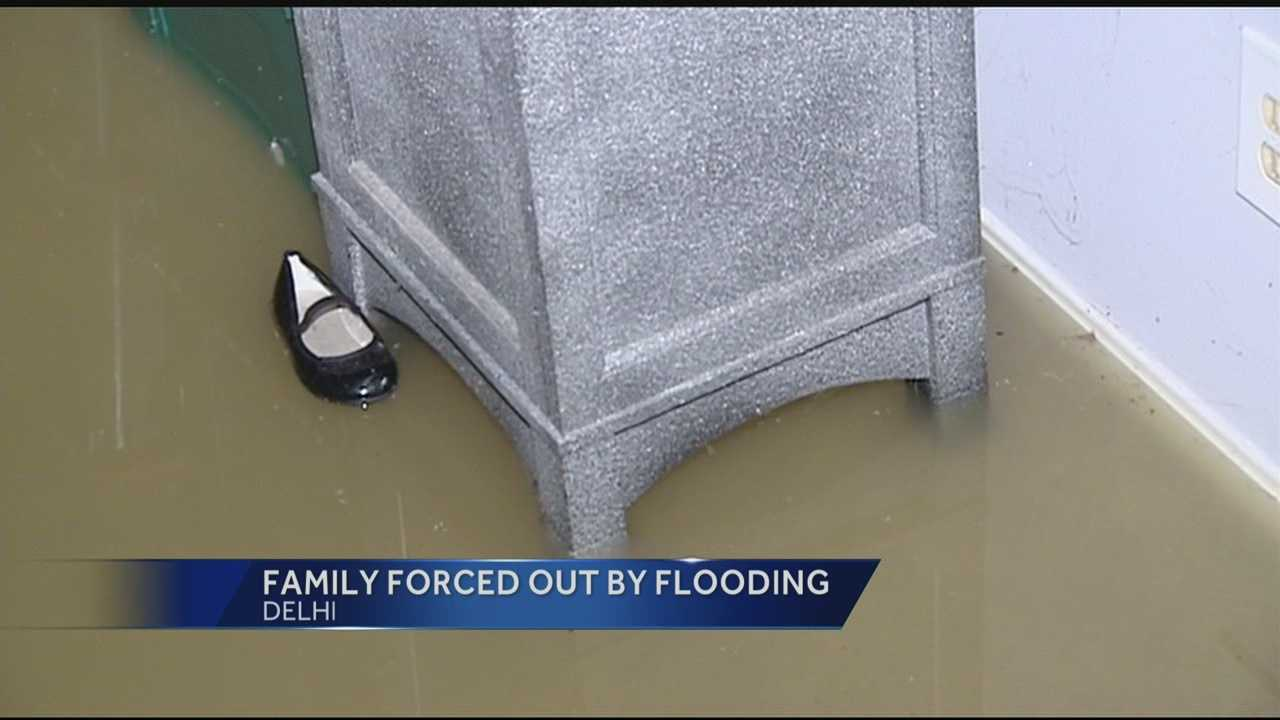 A lot of rain led to a sewer backup that forced a Delhi family out of their home.