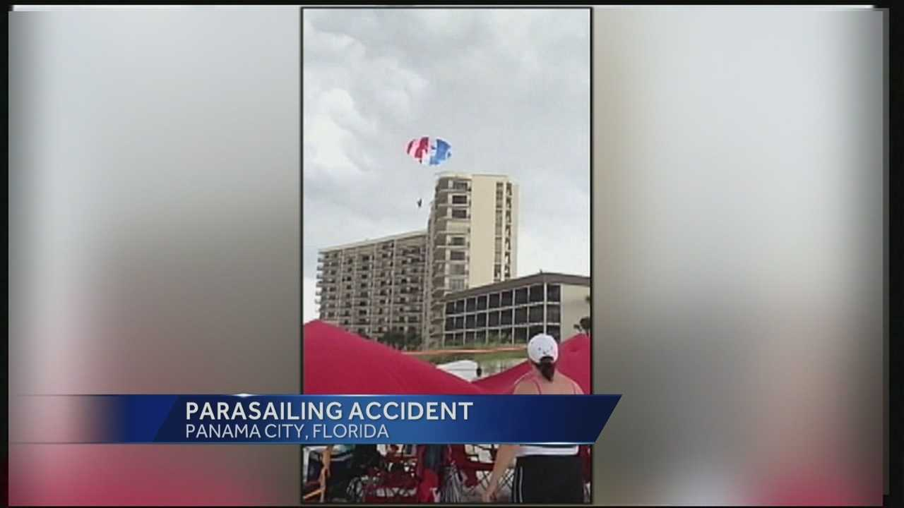 Two Indiana teenagers remained in critical condition at a Florida Panhandle hospital on Tuesday after a parasailing accident off Panama City Beach.
