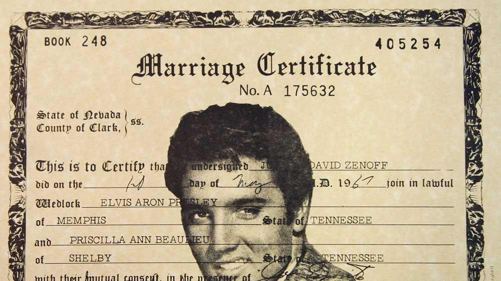 celeb weddings - Elvis Presley
