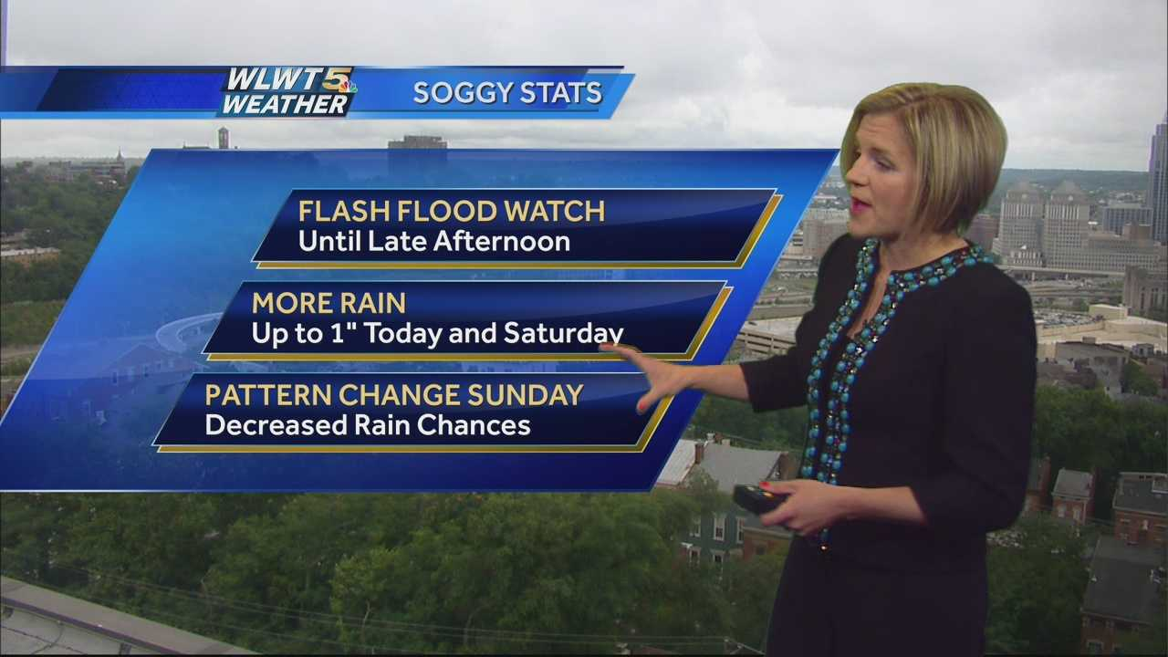 While today isn't a total washout, the rain chances linger into the first half of the weekend. Randi tells you when this pattern finally breaks.